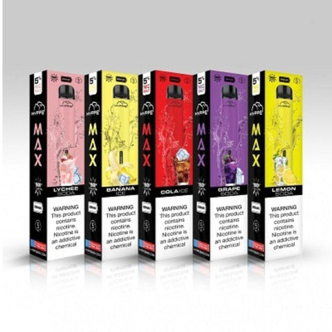 HYPPE Max Disposable 5ml 5% リキッド入り 使い捨てVAPE.