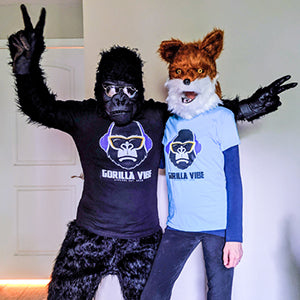 Albert and Laura Founders of Gorilla Vibe Apparel Funny Apparel for Animal Lovers