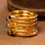 18kt Gold Vermeil Stackable Individual Rings