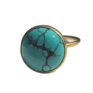 18kt Gold Vermeil Turquoise  Ring