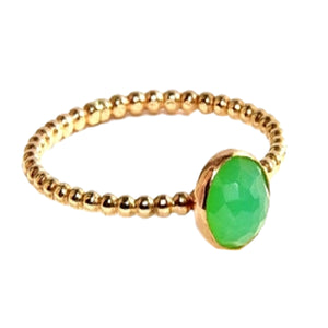 18kt Gold Vermeil Green Onyx Ring