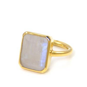 18kt Gold Vermeil Moonstone Ring