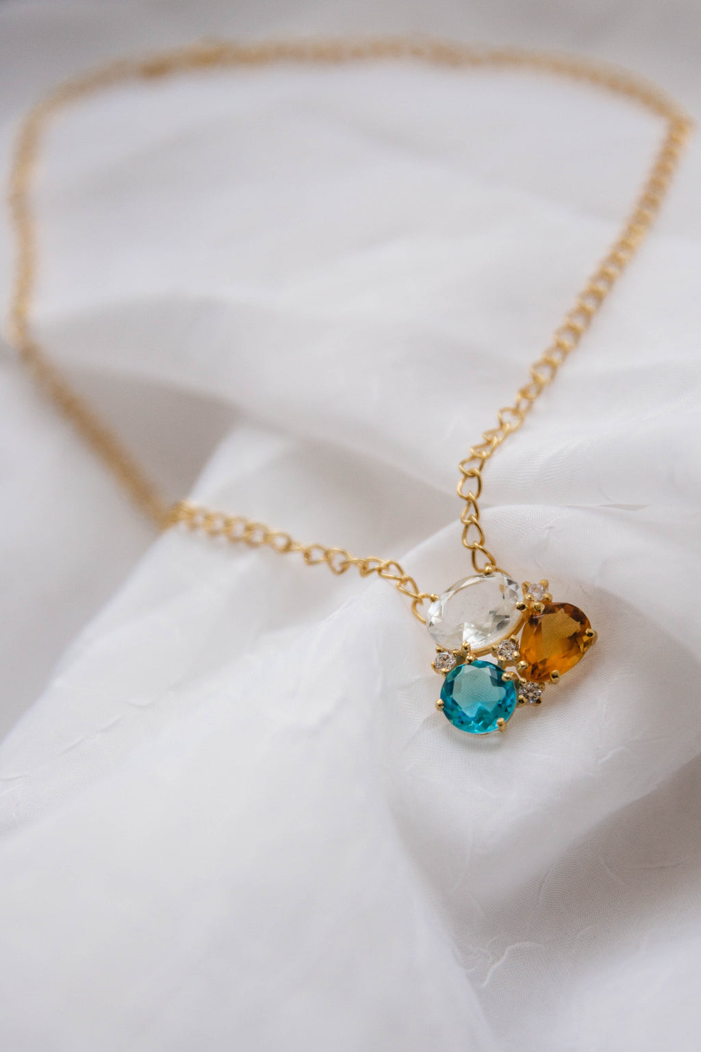 18kt Gold Vermeil Rainbow Necklace