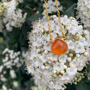 18kt Gold Vermeil Carnelian Necklace