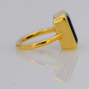 18kt Gold Vermeil Black Onyx Ring