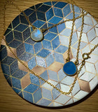 18kt Gold Vermeil Blue Chalcedony Necklace
