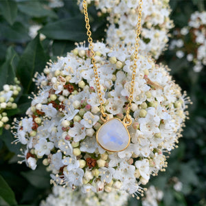 18kt Gold Vermeil Moonstone Necklace
