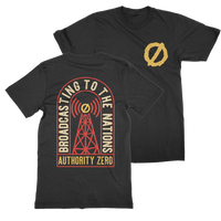 Authority Zero - Broadcasting To The Nations T-Shirt