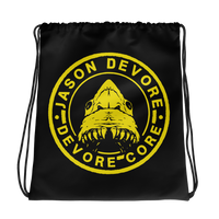 Jason DeVore - DeVore Core Yellow Shark Logo Drawstring bag