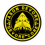 Jason DeVore - DeVore Core Yellow Shark Logo Bubble-free stickers
