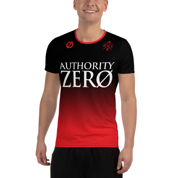 Authority Zero - Black/Red Soccer Jersey