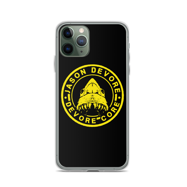 Jason DeVore - Devore Core Yellow Shark Logo iPhone Case