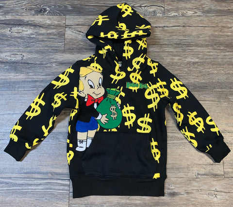 Kids Dollar Signs and Money Bags Hoody