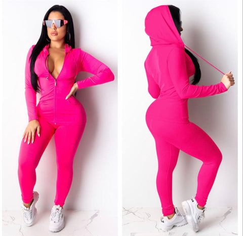 Kim Hot Pink Sweatsuit
