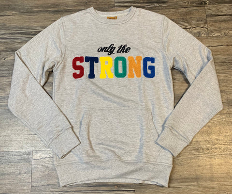 "Vault Grey ""ONLY THE STRONG"" Sweater (READ DESCRIPTION)"