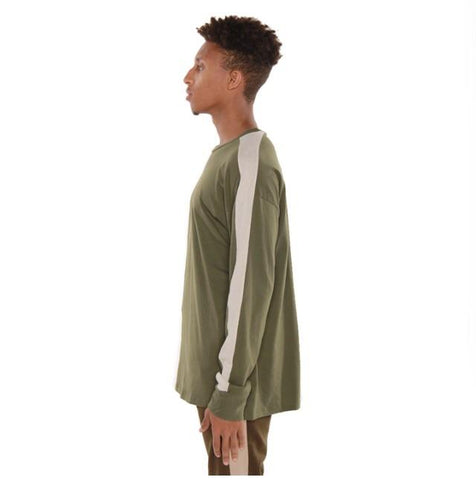 EPTM Long Sleeve Track Tee (Olive/White)