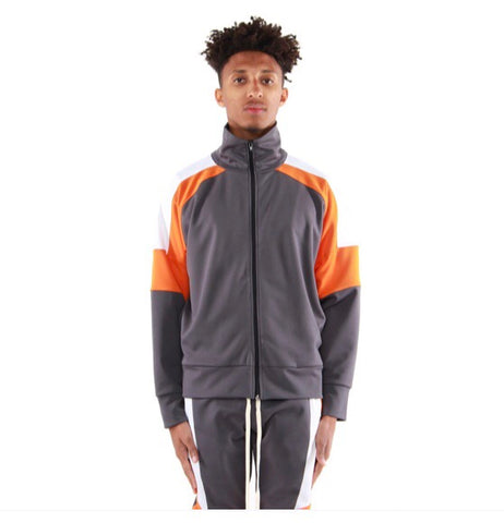 EPTM Color Block Track Jacket (Grey/Orange)