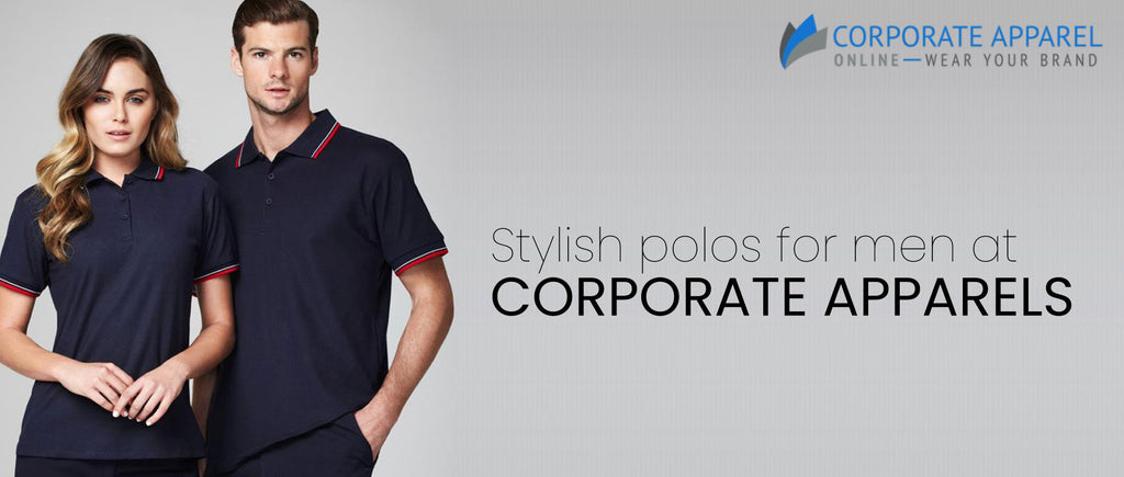 Stylish polos for men at corporate apparels
