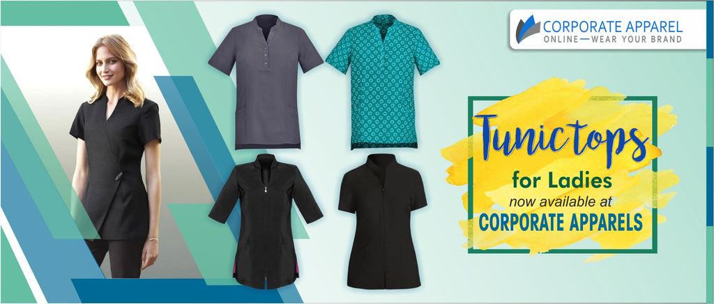 Tunic tops for ladies now available at Corporate apparels