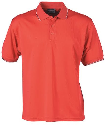 Stencil-Stencil Men's Lightweight C/D Polo-Red/White/Black / S-Corporate Apparel Online - 3