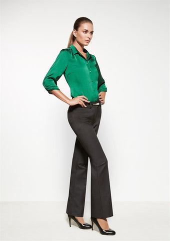 Biz Corporates-Biz Corporates Relaxed Fit Pant - Boot Leg--Corporate Apparel Online - 1