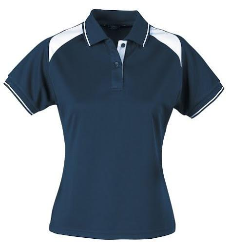 Stencil-Stencil Ladies' Club Cool Dry Polo-Navy/White / 8-Uniform Wholesalers - 10