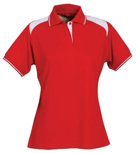 Stencil-Stencil Ladies' Club Cool Dry Polo-Red/White / 8-Uniform Wholesalers - 6