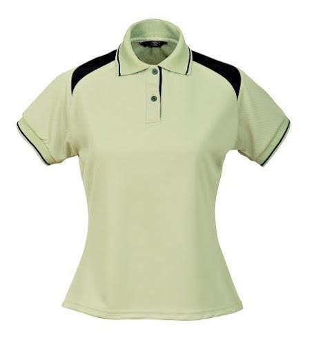 Stencil-Stencil Ladies' Club Cool Dry Polo-Sage Green/Navy / 8-Uniform Wholesalers - 4