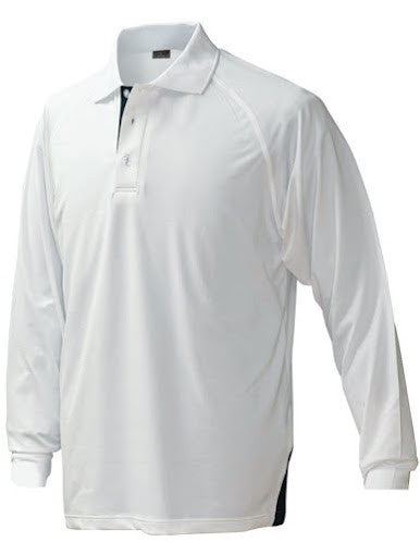 Stencil Mens Long Sleeve Team Polo