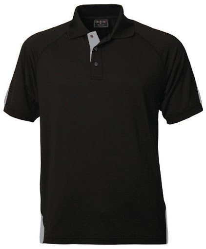 Stencil-Stencil Men's Team Polo-Black/Silver / S-Corporate Apparel Online - 6