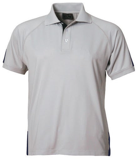 Stencil-Stencil Men's Team Polo-Silver/Navy / S-Corporate Apparel Online - 2