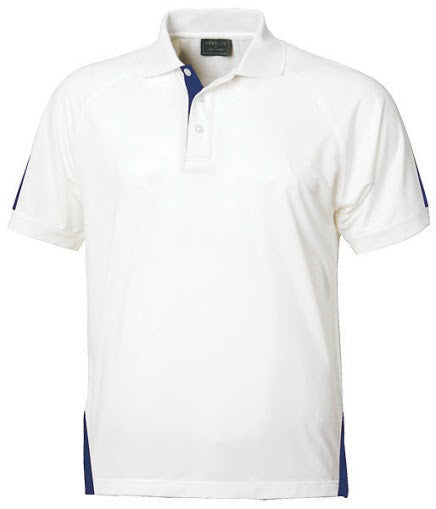 Stencil-Stencil Men's Team Polo-White/Navy / S-Corporate Apparel Online - 1