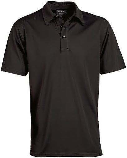 Stencil-Stencil Men's Glacier Polo-Black / S-Corporate Apparel Online - 7