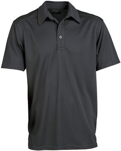 Stencil-Stencil Men's Glacier Polo-Charcoal / S-Corporate Apparel Online - 5