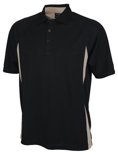 Stencil-Stencil Men's Arctic Polo-Black/Sandstone / S-Corporate Apparel Online - 6