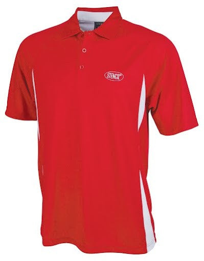 Stencil-Stencil Men's Arctic Polo-Red/White / S-Corporate Apparel Online - 3