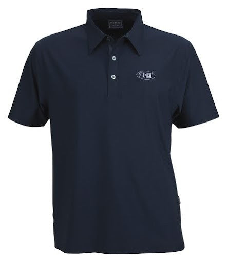 Stencil-Stencil Men's Argent Polo-Navy / S-Corporate Apparel Online - 4