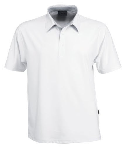 Stencil-Stencil Men's Argent Polo-White / S-Corporate Apparel Online - 1