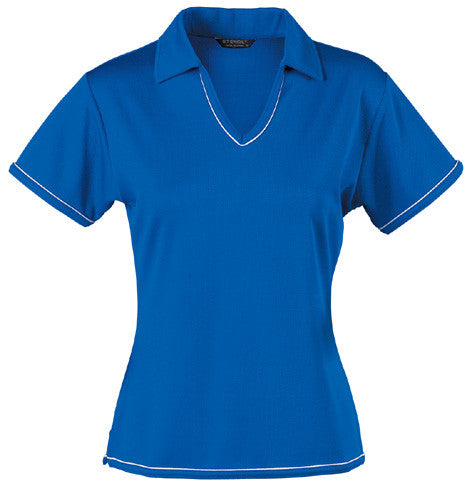 Stencil-Stencil Ladies' Cool Dry Polo 1st (12 Colour)-Royal blue/White / 8-Corporate Apparel Online - 8