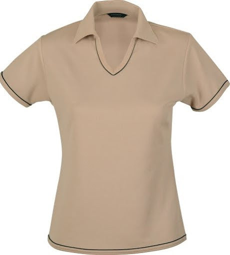 Stencil-Stencil Ladies' Cool Dry Polo 1st (12 Colour)-Beige/Navy / 8-Corporate Apparel Online - 4