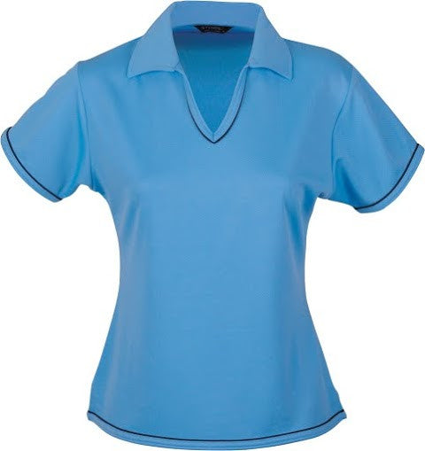 Stencil-Stencil Ladies' Cool Dry Polo 1st (12 Colour)-Bimini blue/Navy / 8-Corporate Apparel Online - 7