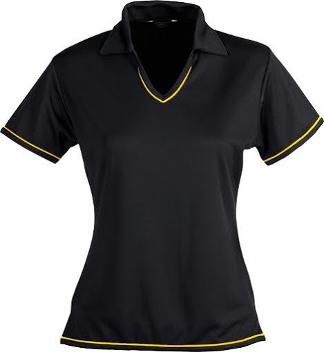 Stencil-Stencil Ladies' Cool Dry Polo 1st (12 Colour)-Black/Gold / 8-Corporate Apparel Online - 12