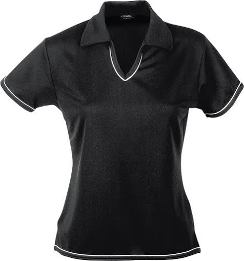 Stencil-Stencil Ladies' Cool Dry Polo 1st (12 Colour)-Black/White / 8-Corporate Apparel Online - 11