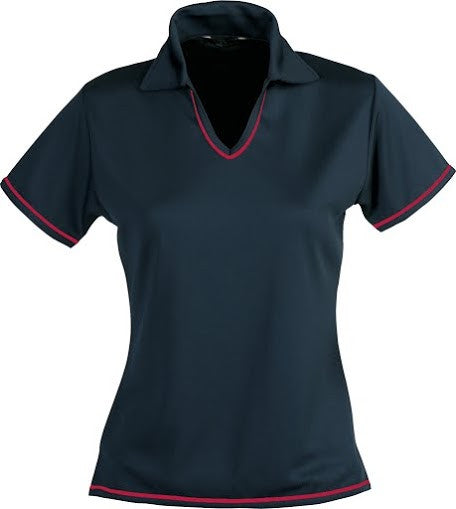 Stencil-Stencil Ladies' Cool Dry Polo 1st (12 Colour)-Navy/Red / 8-Corporate Apparel Online - 10