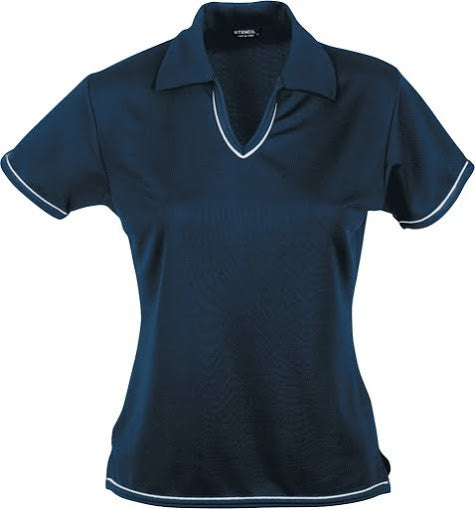 Stencil-Stencil Ladies' Cool Dry Polo 1st (12 Colour)-Navy/White / 8-Corporate Apparel Online - 9