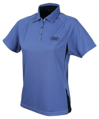 Stencil-Stencil Ladies' Arctic Polo-Dusty blue/Navy / 8-Corporate Apparel Online - 4