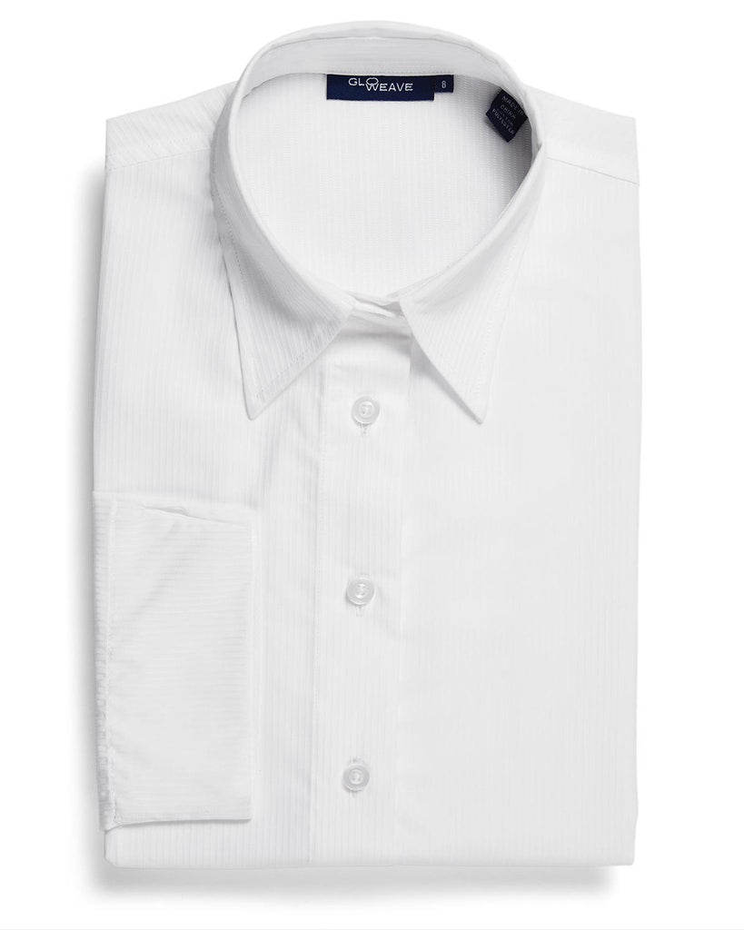 Gloweave-Gloweave Ladies Square Dobby 3/4 Sleeve Shirt-White / 6-Corporate Apparel Online - 6