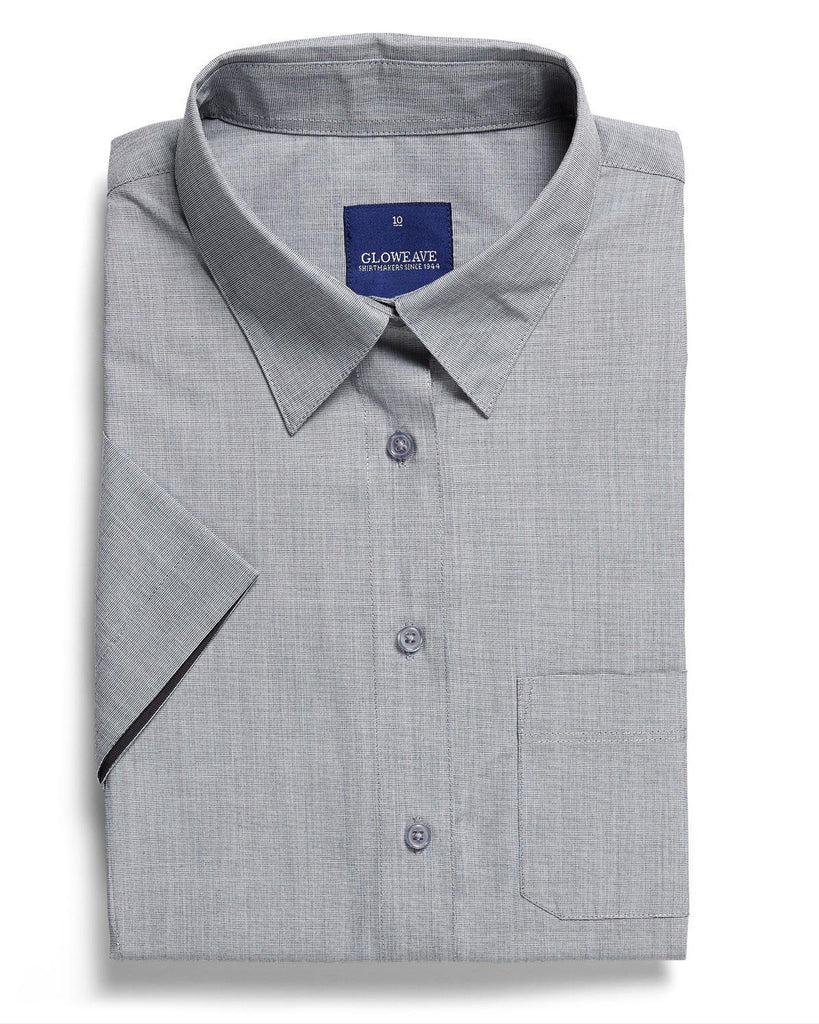 Gloweave-Gloweave Ladies  End On End S/S Hospitality Shirt-Silver / 6-Corporate Apparel Online - 3