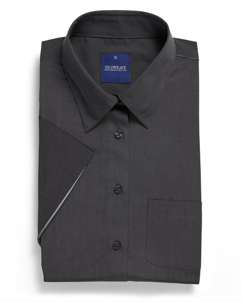 Gloweave-Gloweave Ladies  End On End S/S Hospitality Shirt-Slate / 6-Corporate Apparel Online - 2