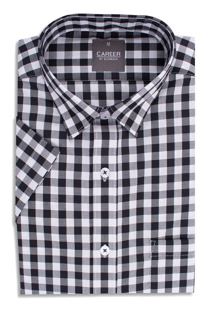 Gloweave Men's Royal Oxford Short Sleeve Casual Slim Fit Shirt (1710HS)
